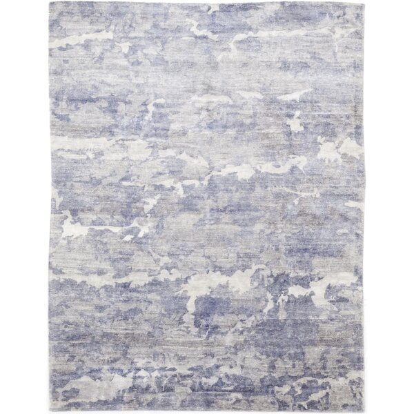 One-of-a-Kind Crowell Hand-Knotted Wool Blue Indoor Area Rug by Isabelline