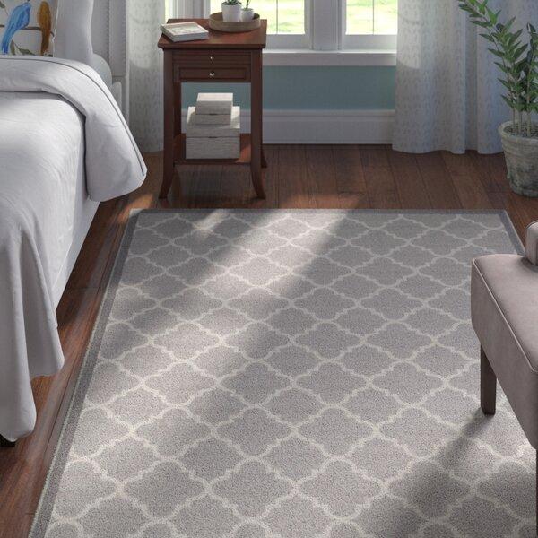 Hansa Trellis Lattice Gray Indoor Area Rug by Andover Mills