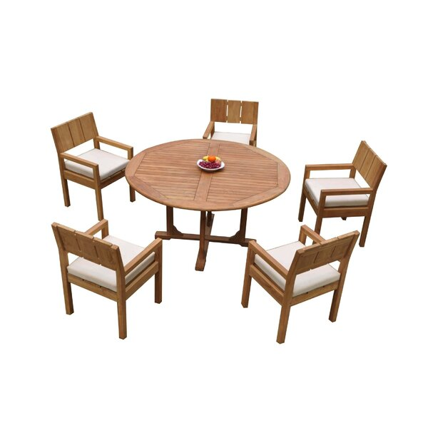 Orey 6 Piece Teak Dining Set by Rosecliff Heights