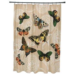 Swan Valley Antique Butterflies Shower Curtain
