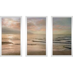 'Sands of Time' Framed Painting Print Multi-Piece Image on Glass by Highland Dunes