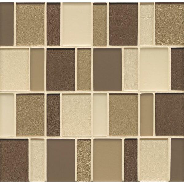 Remy Glass 12 x 12 Mosaic Brick Bends Tile in Arlington by Grayson Martin