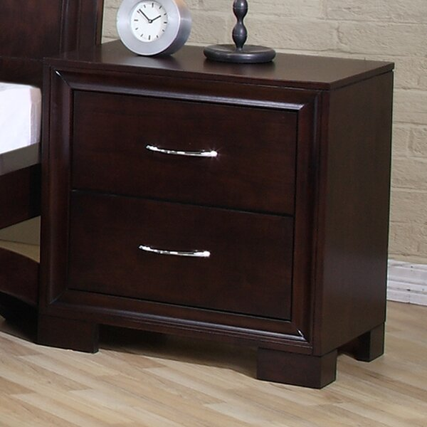 Linkwood 2 Drawer Nightstand by Wrought Studio