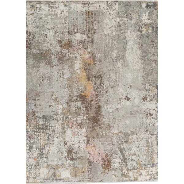 One-of-a-Kind Hand-Knotted Gray 9' x 12'3 Area Rug