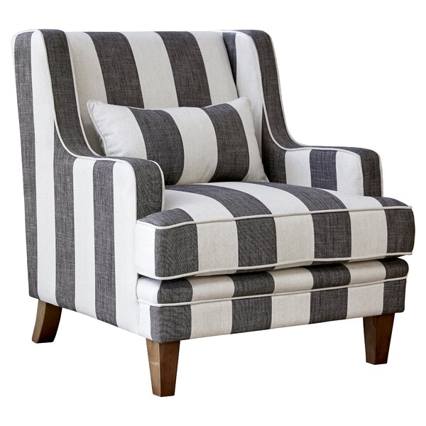 Kaul Stripe Armchair by Gracie Oaks