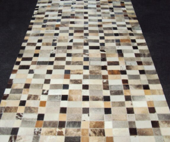 Patchwork Disruption III Neutral Area Rug by Modern Rugs