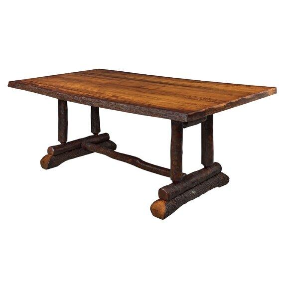 Raby Bendwood Slab Solid Wood Dining Table By Loon Peak