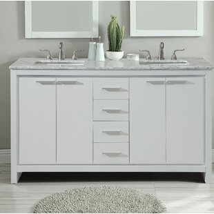 Inexpensive Easterling 60 Double Bathroom Vanity Set By Ebern Designs