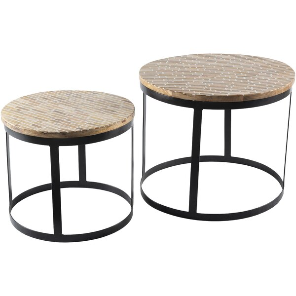 Schulz 2 Piece Nesting Tables By Bungalow Rose