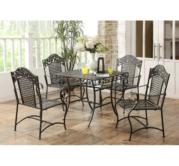 Pemberville 5 Piece Dining Set by Darby Home Co