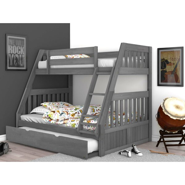 Giuliano Twin Over Full Bed Bunk With Trundle By Birch Lane™ Heritage by Birch Lane™ Heritage Today Only Sale