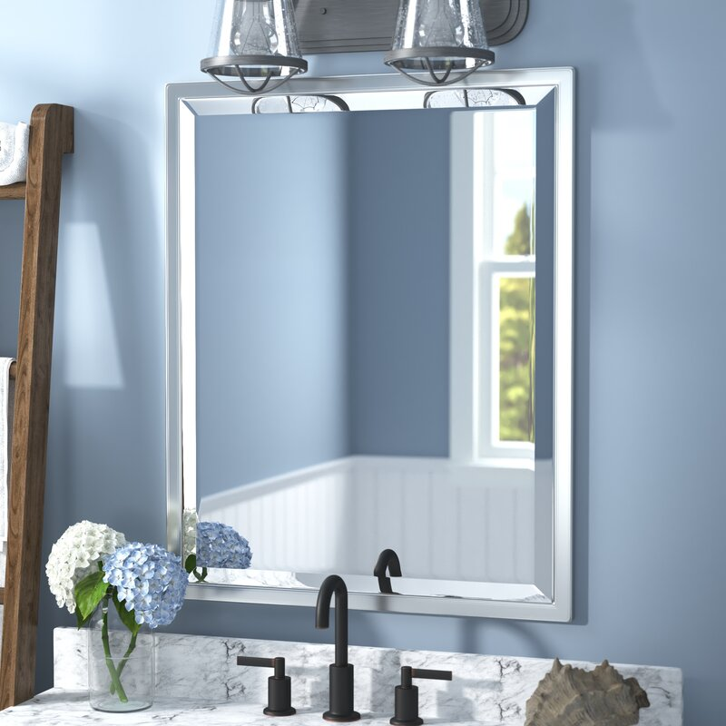 Classic Rectangle Metal Frame Wall Mounted Mirror