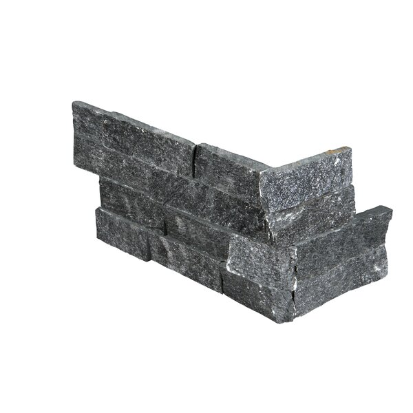 6 x 12 Natural Stone Splitface Tile in Black by MSI