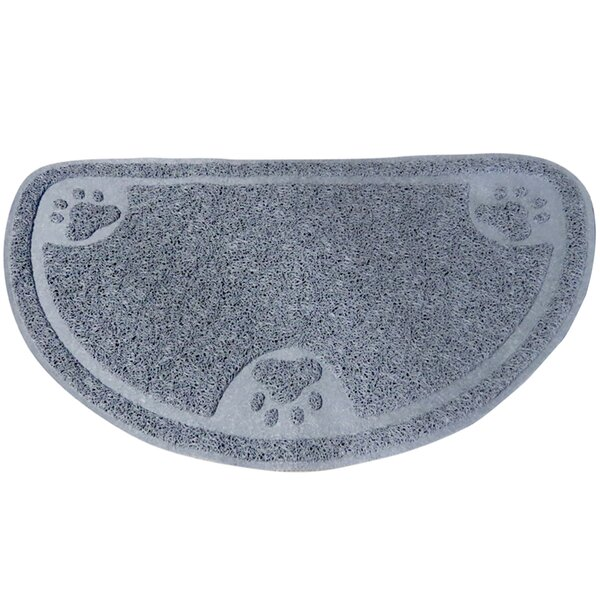 Premium Half Moon Litter Mat by Evelots