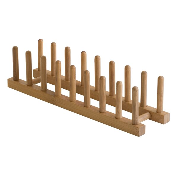 Bamboo Plate Rack by Lipper International