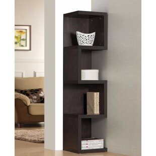 Review Luebke Wooden Corner Unit Bookcase by Wrought Studio