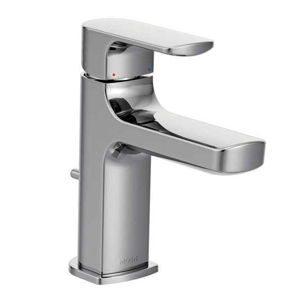 Rizon Low Arc Bathroom Faucet with Drain Assembly by Moen Moen