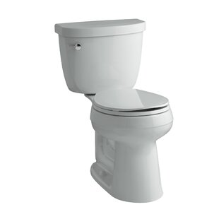 Cimarron Comfort Height 2 Piece Round-Front 1.28 GPF Toilet with Aquapiston Flush Technology and Left-Hand Trip Lever ByKohler