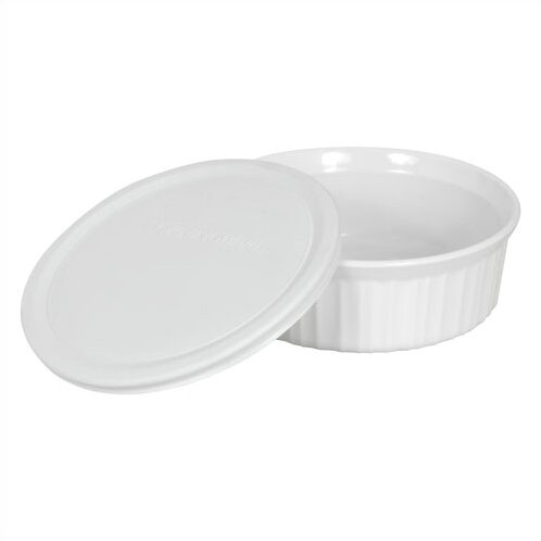 Drexel 24 oz. Round Dish with Plastic Cover by Mint Pantry