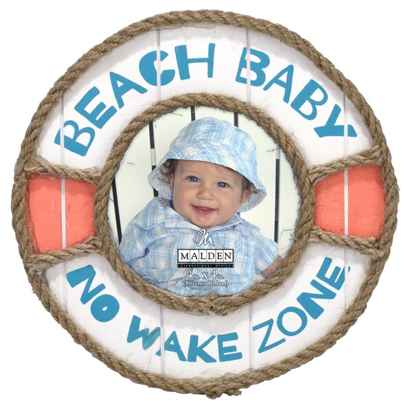Beach Baby No Wake Zone Picture Frame by Malden
