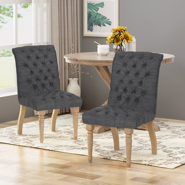 Mona Upholstered Dining Chair (Set of 2) by One Allium Way