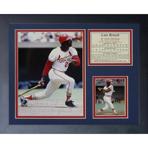 Lou Brock Framed Memorabilia by Legends Never Die