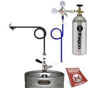 Standard Party Beer Dispenser Keg Tap Kit with Tank