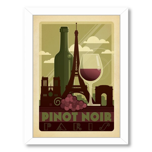 Wine Pinot Noir Framed Vintage Advertisement by East Urban Home