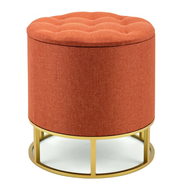 Leftwich Upholstered Tufted Ottoman by Mercer41