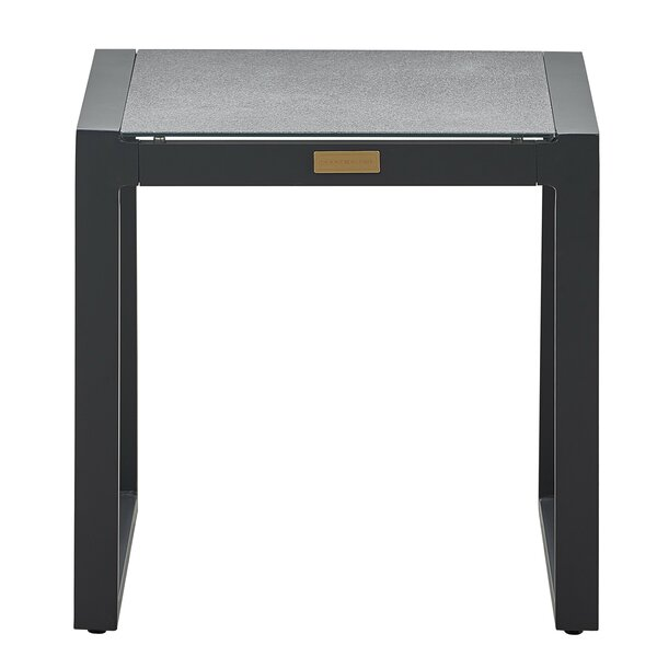 Hampton Glass Side Table by Tommy Hilfiger