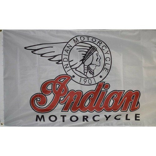 Indian Motorcycle Traditional Flag by NeoPlex