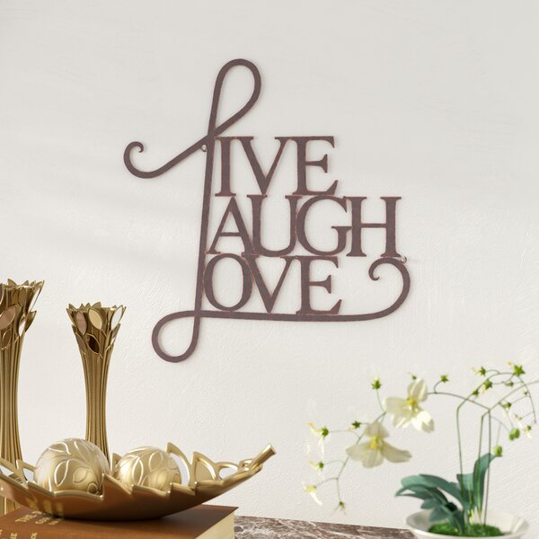 Live, Laugh, Love Antique Copper Wall Decor by Andover Mills