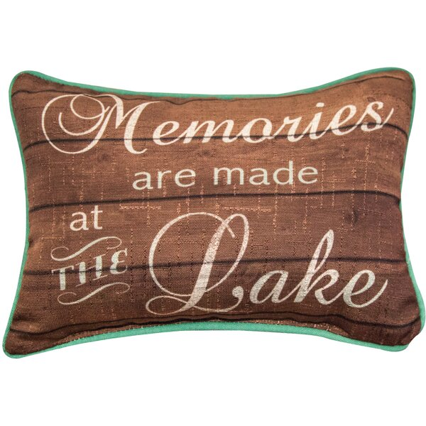 Memories are Made at the Lake - Word Dye Lumbar Pillow by Manual Woodworkers & Weavers