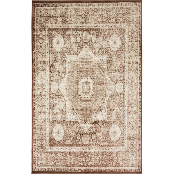Bolton Brown/Beige Area Rug by World Menagerie