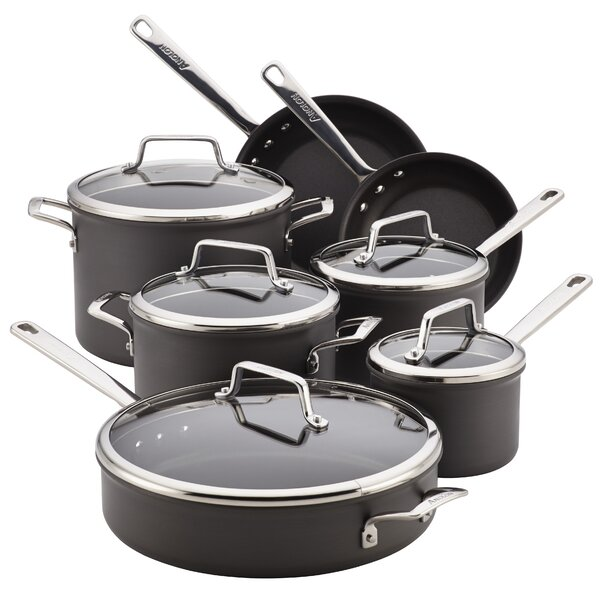 Authority Nonstick 12 Piece Cookware Set by Anolon
