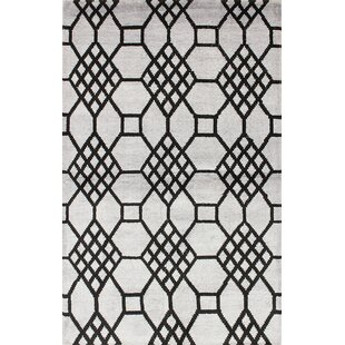 One-of-a-Kind Harned Hand-Knotted Black/Gray Area Rug Isabelline