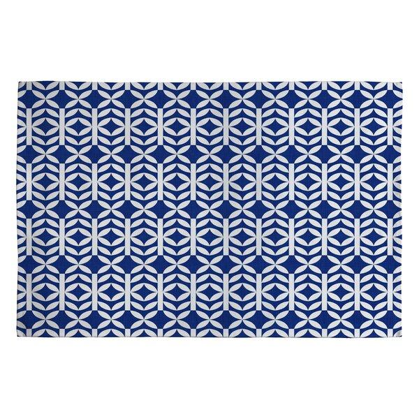Holli Zollinger Copenhagen Blue Geometric Area Rug by Deny Designs