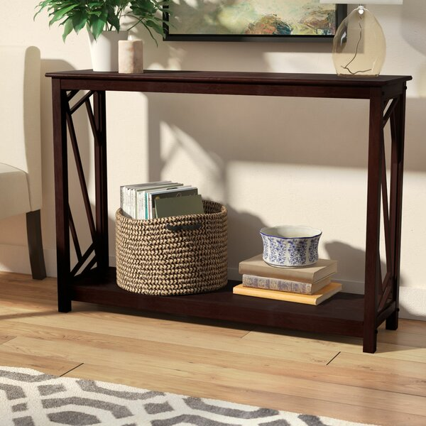 Melinda Wood Console Table by Andover Mills