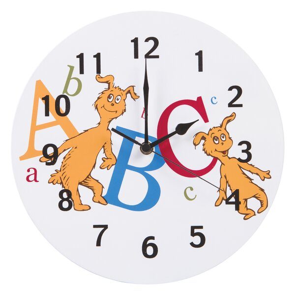 Dr Seuss ABC 11 Wall Clock by Trend Lab