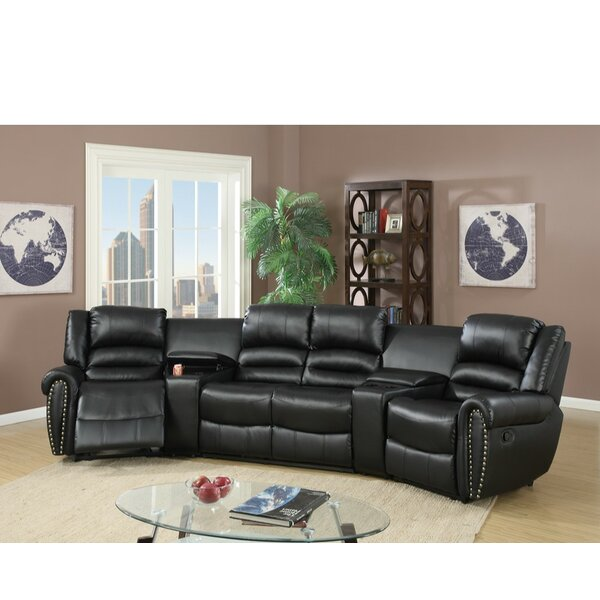 Sanora Motional Home Theater 5 Piece Sectional Set by Darby Home Co