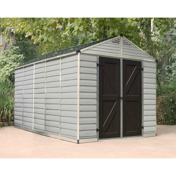 SkyLight™ 7 ft. 9 in. W x 12 ft. 5 in. D Polycarbonate Storage Shed by Palram