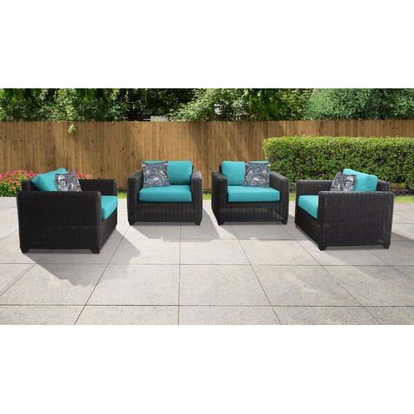 Fairfield Patio Chair with Cushions (Set of 4) by Sol 72 Outdoor
