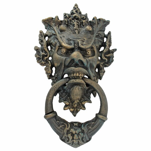 Vecchio Greenman Authentic Iron Door Knocker by Design Toscano
