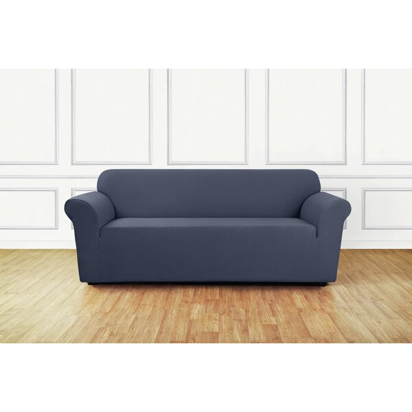 Stretch Delicate Leaf Box Cushion Sofa Slipcover by Sure Fit