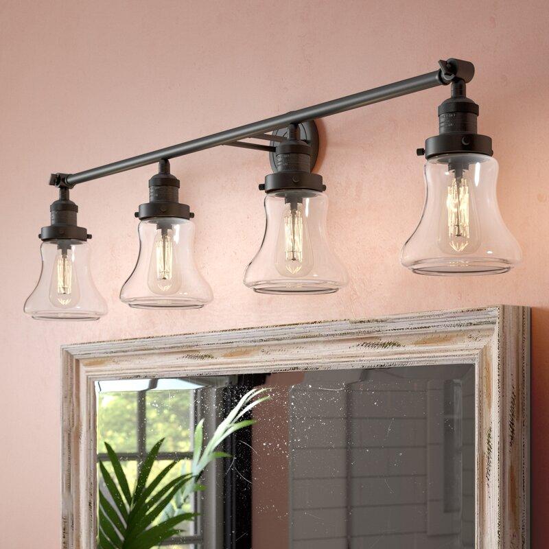 Beachcrest Home Nardone 4 Light Vanity Light Reviews Wayfair