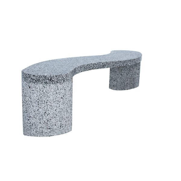 Shurtleff Curved Granite S Garden Bench by Bloomsbury Market
