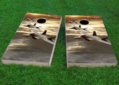 3 Jets Cornhole Game (Set of 2) by Custom Cornhole Boards