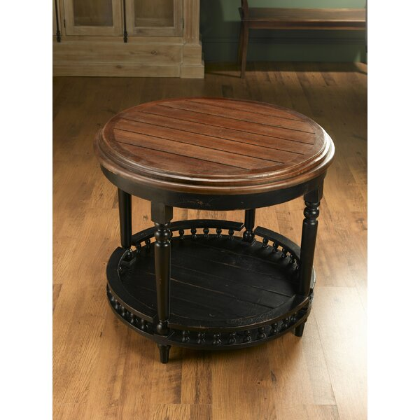 Round Plank Top End Table by AA Importing