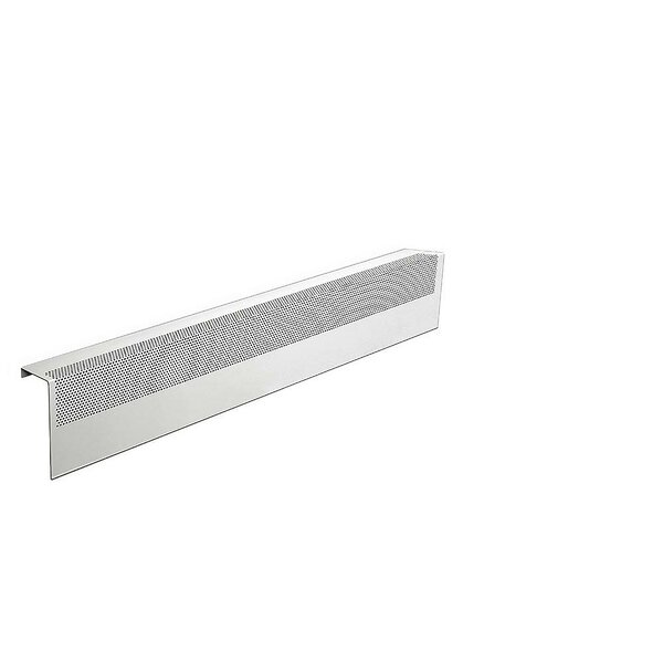 Basic Series Galvanized Steel Easy Slip-On Baseboard Heater Cover By Baseboarders