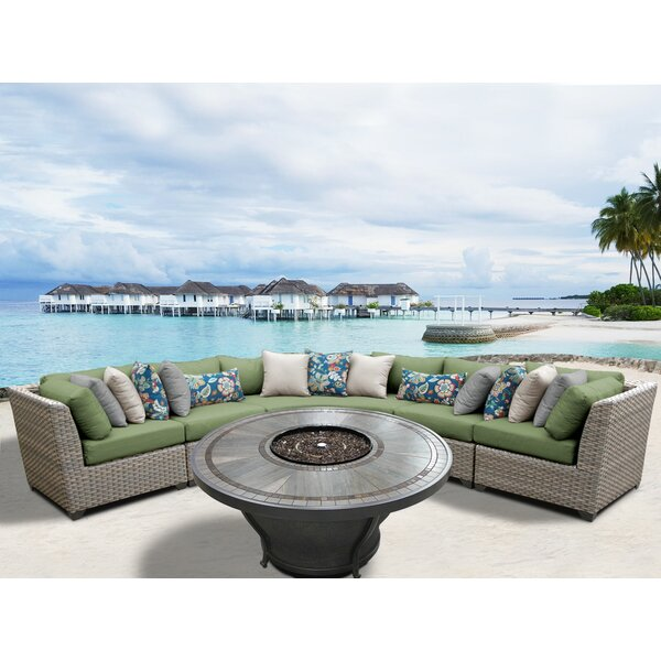 Romford 6 Piece Rattan Sectional Seating Group With Cushions By Sol 72 Outdoor